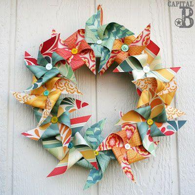 PinwheelWreath and 14 more summer wreaths... So cute