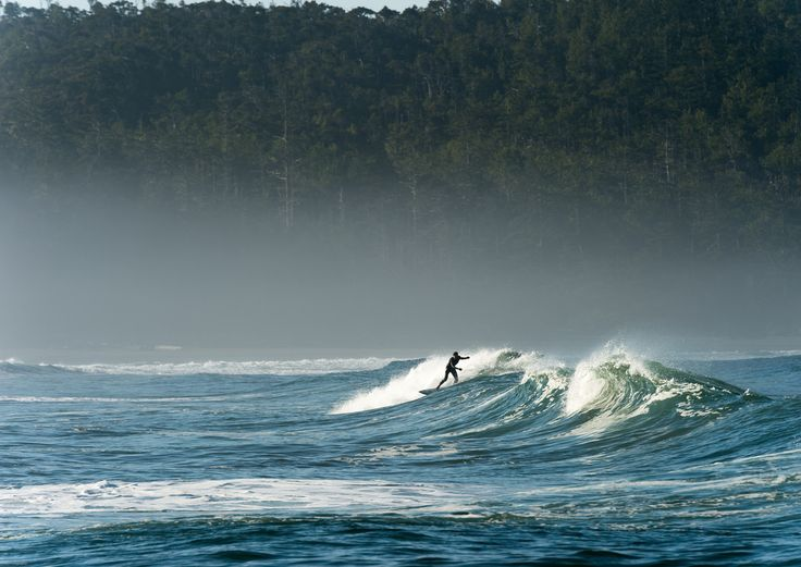Surfing in Tofino - One of the very few places in Canada with great waves to ride #Tofino