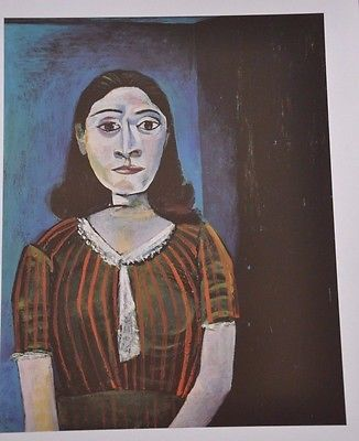 "Woman Seated by Pablo Picasso Fine Art Print 17"" x 11"""