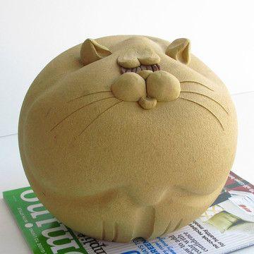 70s Fat Cat Piggy Bank Ceramic