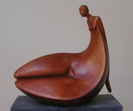 Amazing, gentle proportions. Artist Ana Duncan   'Reflection' in Bronze