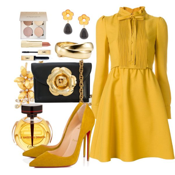 A fashion look from January 2018 featuring Valentino dresses, Christian Louboutin pumps and Oscar de la Renta shoulder bags. Browse and shop related looks.
