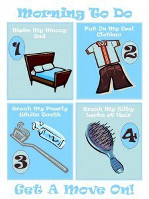 morning chore chart