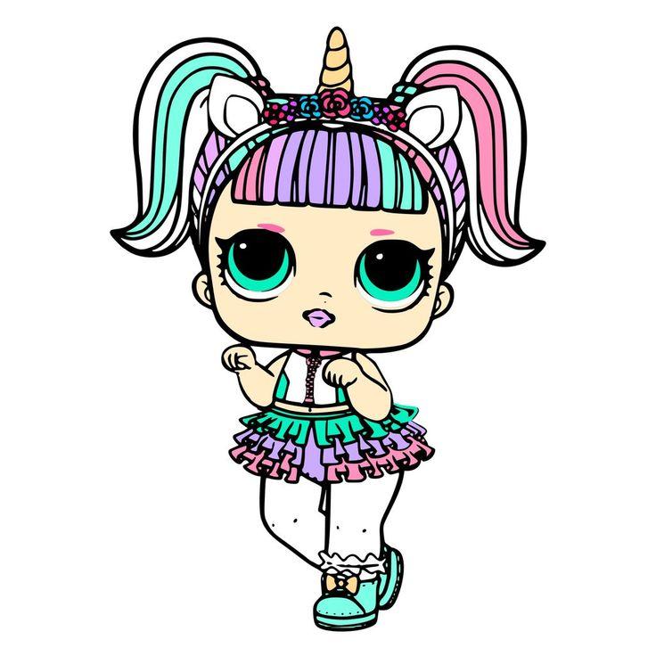Unicorn Surprise Lol Doll Svg Jpeg High Def 300 Dpi Png