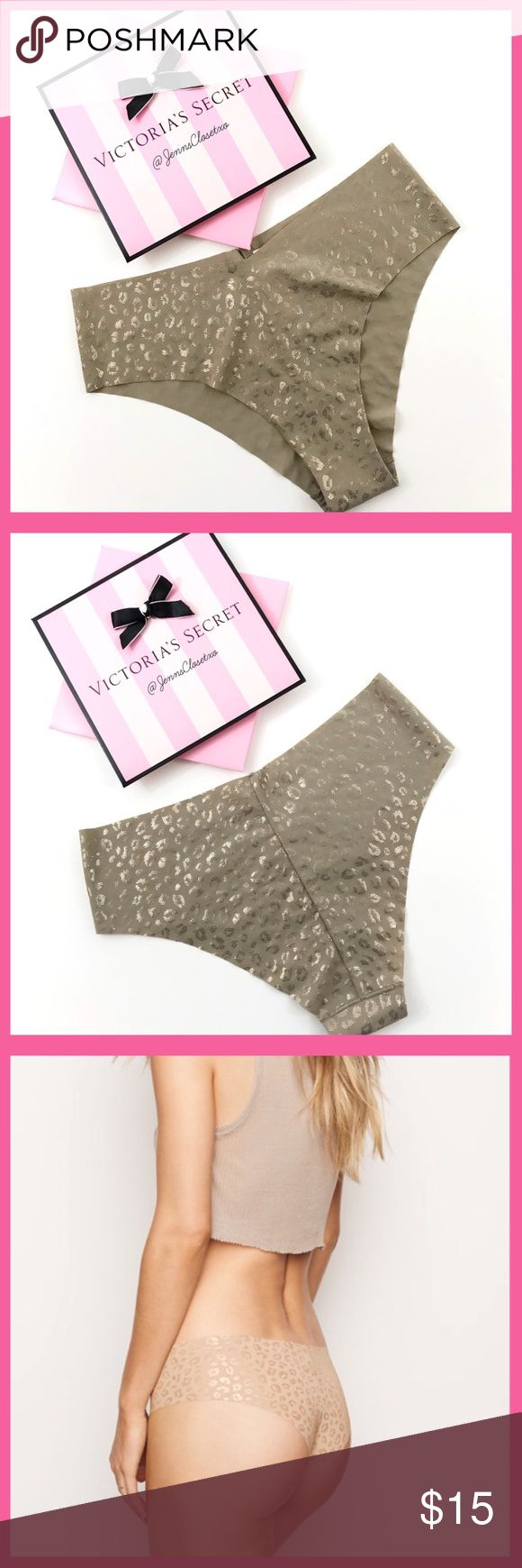 •Victoria's Secret• No show Cheeky Panty V I C T O R I A 'S ✦ S E C R E T   ❈ Condition: New with tags  Super-smooth, seamless and totally elastic-free:  with laser-cut edges, this cheeky cuts the sleekest shape. •VS Sexy No-Show solutions:  laser-cut edges for a super smooth, seamless fit •Moderate back coverage: shows a little, but not all •Machine wash •Imported nylon/spandex  ❈ Fast shipping Monday⇢Friday  Same/Next day after your purchase  ❈ Questions? Please comment below,  I will be…