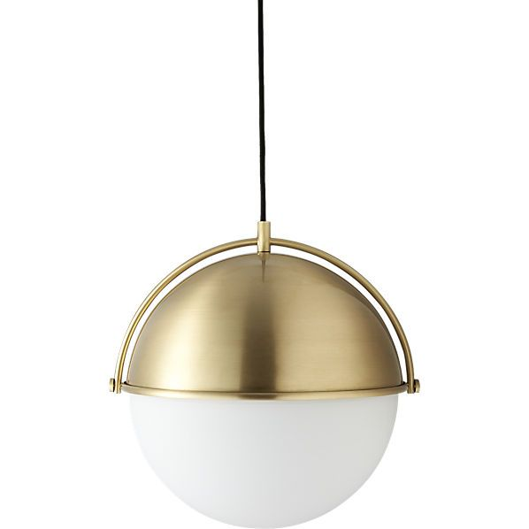 Perfect Brass Globe Light Pendant