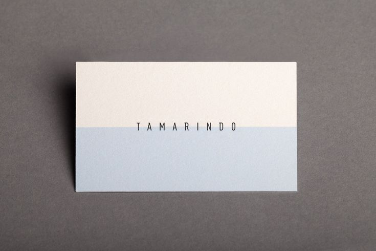 Logotype and business card designed by La Tortillería for Spanish kitchen and bar Tamarindo