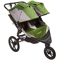 Baby Jogger 2016 Summit X3 Double Jogging Stroller - Green/Gray