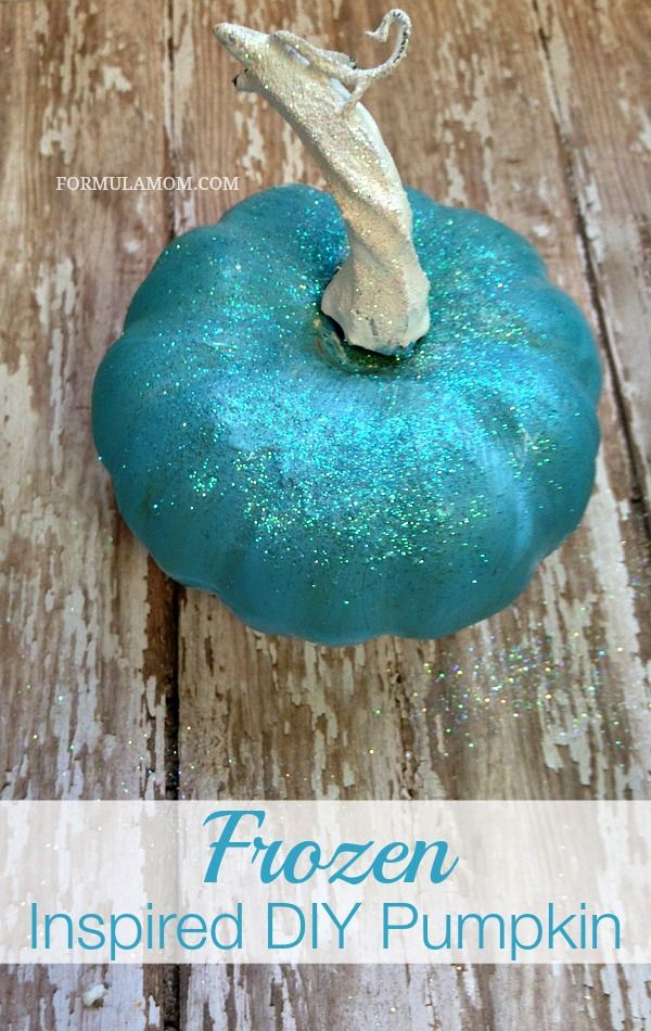 Disney's Frozen Inspired DIY Pumpkin #Halloween #Disney #Frozen