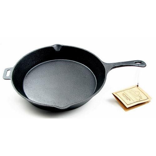 """Old Mountain Cast Iron 12"""" Skillet with Handle"""