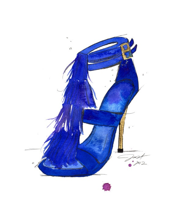 Original watercolor and pen fashion by JessicaIllustration on Etsy, $120.00