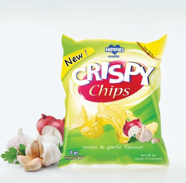 Designed by Citrartwork , Indonesia .  Designer: Citra Limanto   Crispy Chips is a new brand of Hippies Snacks Indonesia. The activity of t...