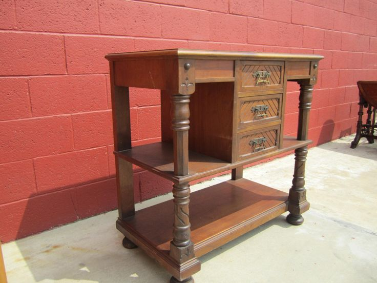 antique furniture eastlake dumb waiter server
