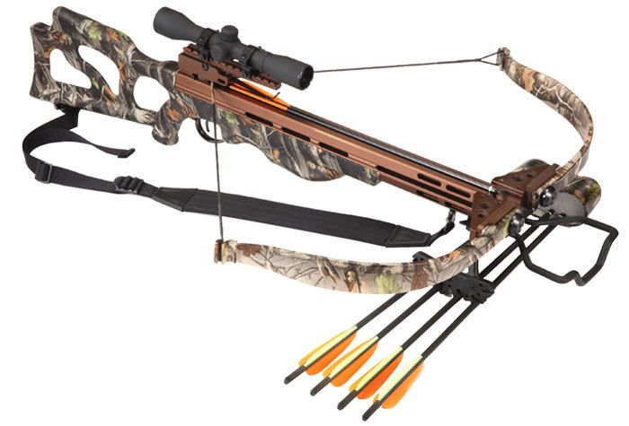 Universal Mania Inc. - Crusader 225lbs Crossbow Package, $372.89 (http://www.universalmania.com/crusader-225lbs-crossbow-package/)