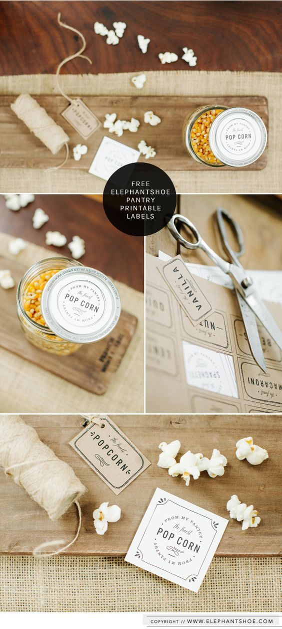 Elephant Shoe - Free Pantry Labels (need to register to download) More
