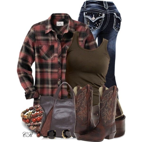 Country Clothing by colierollers on Polyvore featuring VILA, Ariat, Francesco Biasia, Diesel, Kate Spade and country