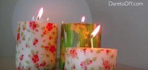 Cómo decorar velas con servilletas: ¿te lo imaginas?
