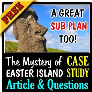 This TWO PAGE EDITABLE Case Study comes with an Answer Key. The first page contains an article about Easter Island and the development of the ecological disaster that occurred there, and the second page contains questions that explore the causes and effects of the choices that were made by the inhabitants of the island.  *****************************************************************************A GREAT STARTER FOR ECOLOGYI have used this case study to start off my unit in Ecosystems…
