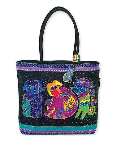 Look what I found on #zulily! Black Dogs & Doggies Large Tote #zulilyfinds
