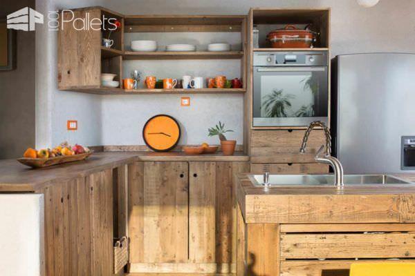 Entire Modern Kitchen Made Out Of Pallets Pallet Desks & Pallet Tables