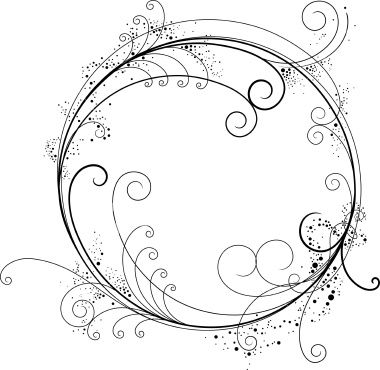 Fancy Circle Royalty Free Stock Vector Art Illustration