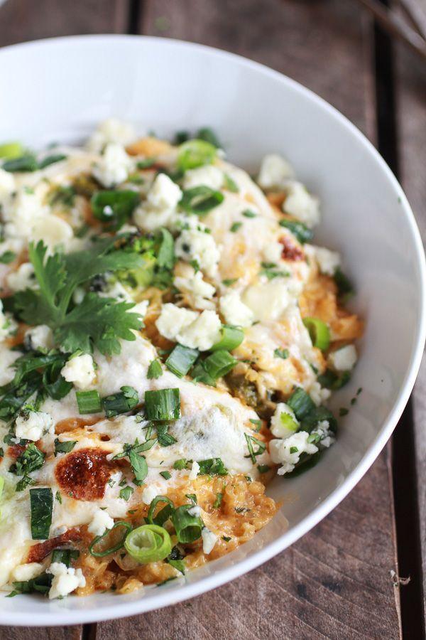 Easy Creamy Buffalo Chicken Quinoa Bake