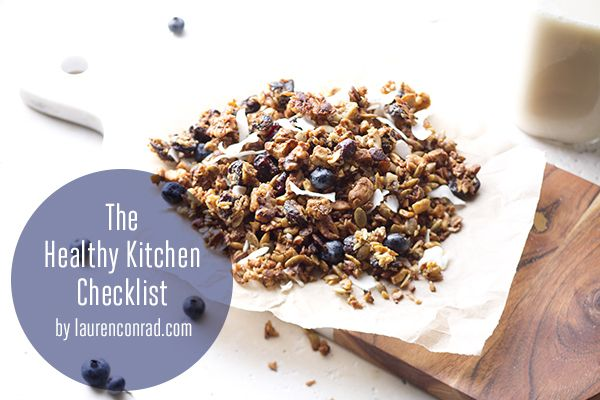 The healthy kitchen checklist...a bomb dot com quick guide to stocking a healthy kitchen!