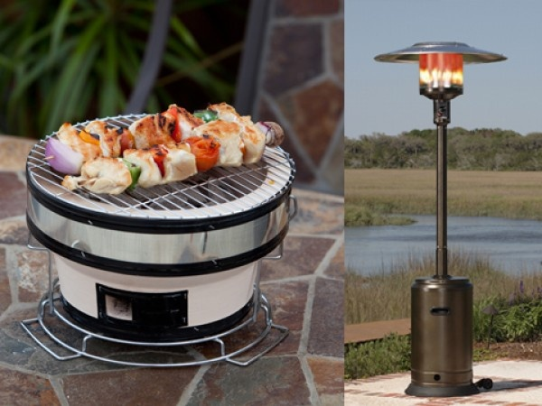 Outdoor Propane Heaters - Tabletop Yakatori Grills by Well-Traveled Living