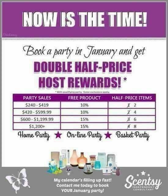 Double 1/2 Price Host Rewards - January 2017