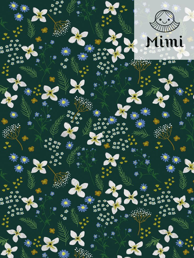 Spring floral pattern by Mimipaper