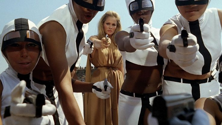 don't mess with Ursula Andress and her crew - from 'The 10th Victim'