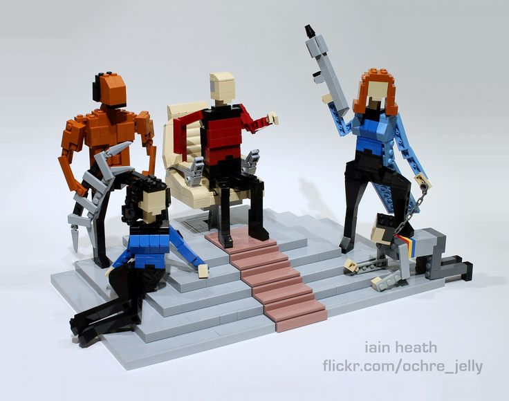 """https://flic.kr/p/dXnqCf   Make it so!   STNG as it should have been... Emperor Picard The Magnificent upon his throne, surrounded by his loyal subjects, Princess Troi-Leia (slave girl and fortune teller), Sergeant Buff (Klingon barbarian bodyguard and Sushi chef), Bone Crusher (witch doctor and dungeon mistress), and the fool.  Kinda makes me wish STNG had done a """"Mirror Universe"""" episode!  <b>Built for the SeaLUG LEGO display at Emerald City Comicon (first weekend of March at the Seattle…"""