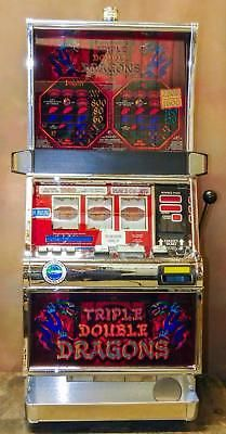 """IGT S-2000 REEL SLOT MACHINE: """"TRIPLE DOUBLE DRAGONS""""          FREE SHIPPING"""