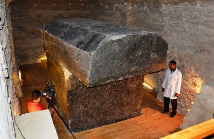 The Serapeum, an ancient stone tomb of an Apis bull, is unveiled in Saqqara, Egypt