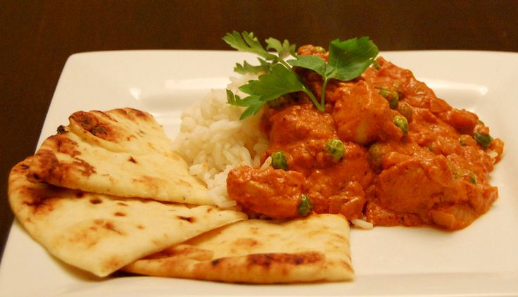naan and butter chicken ...the best combination in India ...