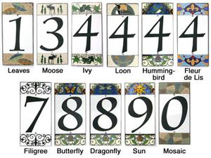 ceramic house numbers by all fired up sticks furniture home decorative accents - Decorative House Numbers
