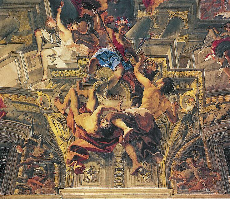 Church of St. Ignazio, Rome Andrea Pozzo's trompe l'oeil (1685) Amercia
