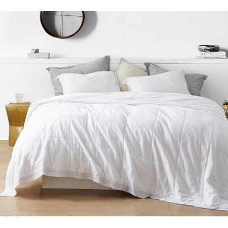 Bom Dia 300tc Washed Sateen Quilted Comforter Twin Xl