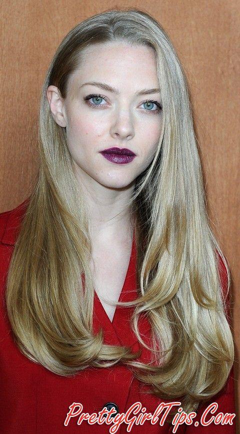 @prettygirltips Amanda Seyfried Hairstyles: Stylish Long Straight Haircut