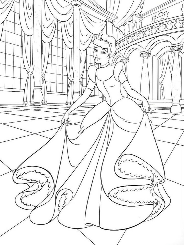 Beautiful Cinderella Coloring Pages #coloringsheets ...