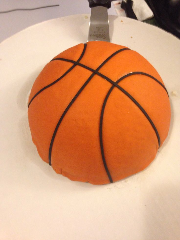 Basketball Cake Fondant With Images Basketball Cake Ball Special Occasion Cakes