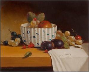 Johannes Eerdmans - Still Life With Grapes & Plums