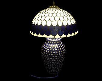 Tiffany floor lamp Hydrangea. Big floor stained glass lamp.