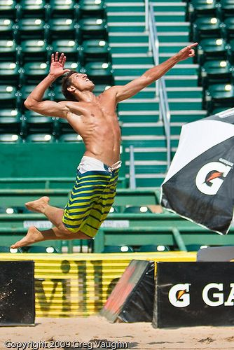 Volleyball Serve, i don't like guys volleyball at all.. But this is a good picture
