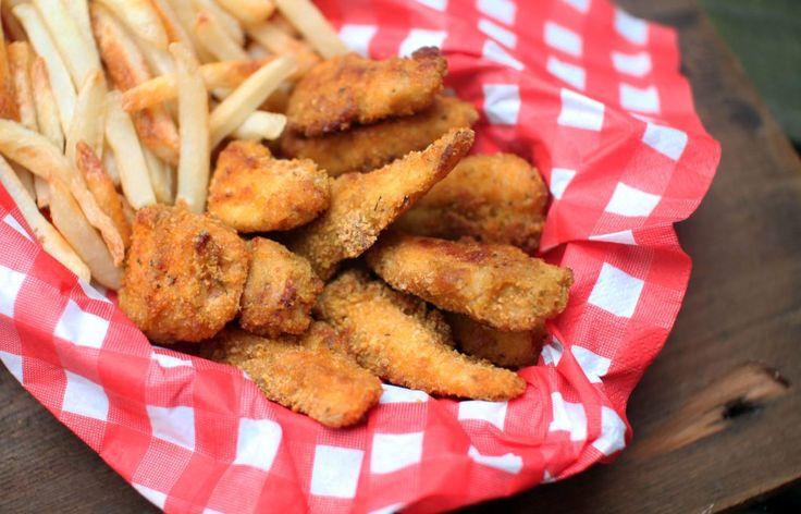 Cheesy Cornflake Crusted Chicken Tenders