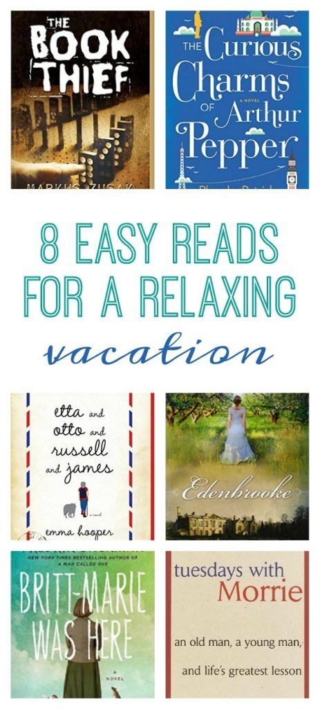 8 Easy Reads for a Relaxing Vacation on SixSistersStuff.com | Here's a list of 8 books we'd highly recommend for stress free vacation reading!