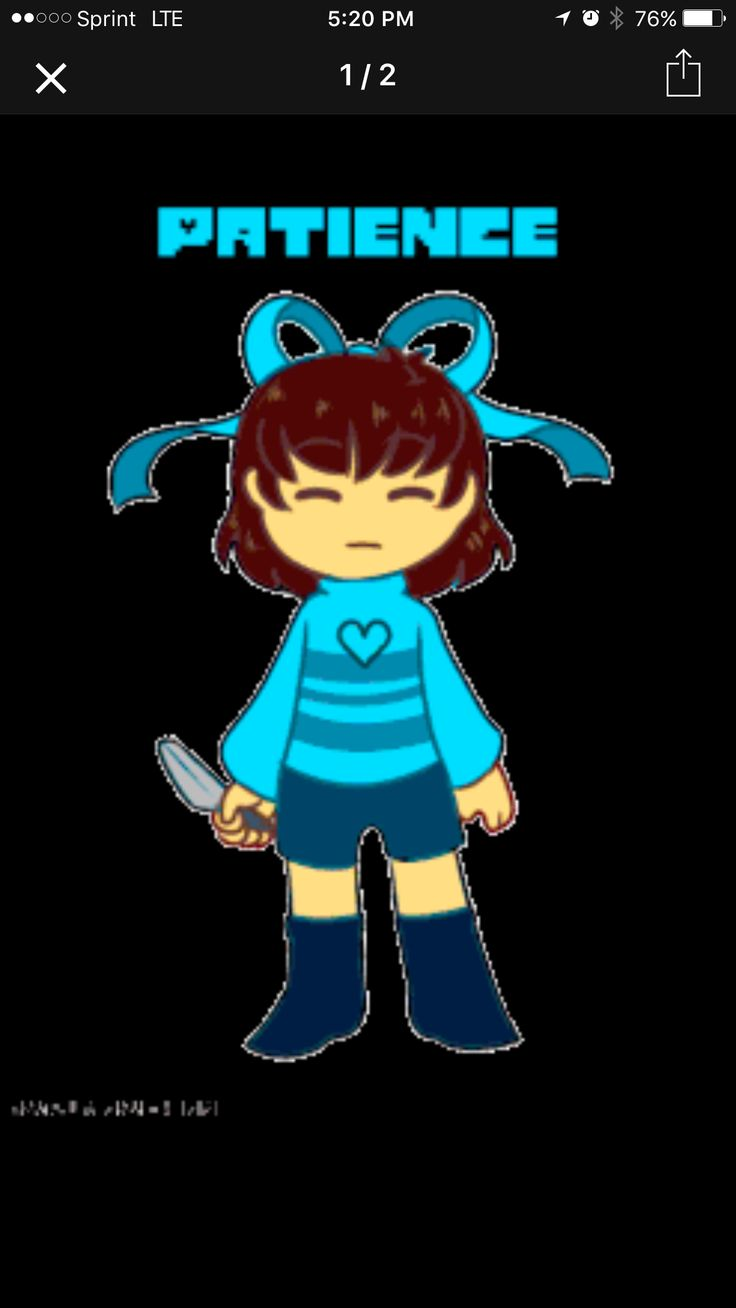 Undertale: HUMAN: light blue soul: Patience