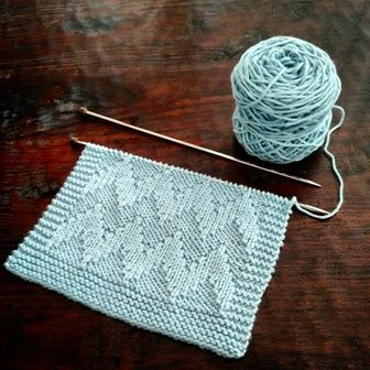 Fancy Stitch Combo – Shadow Chevron Dishcloth. This is knit, but I don't have a knitting board!