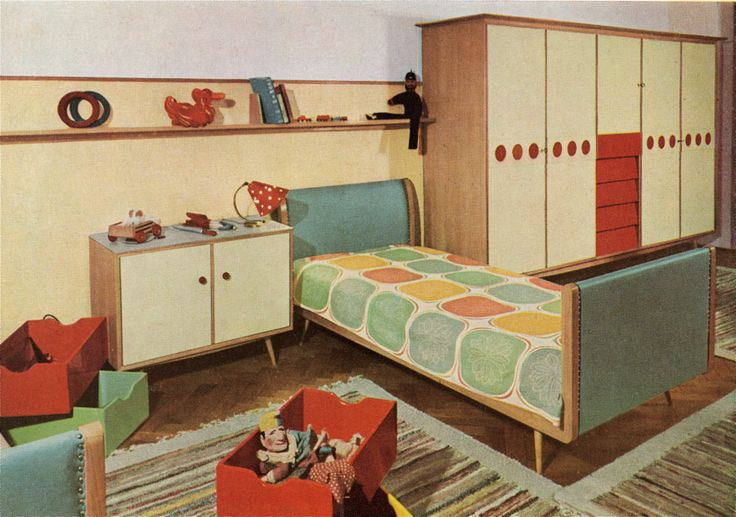 Best 1950 S Child S Bedroom Doll House Wallpaper Kids 400 x 300