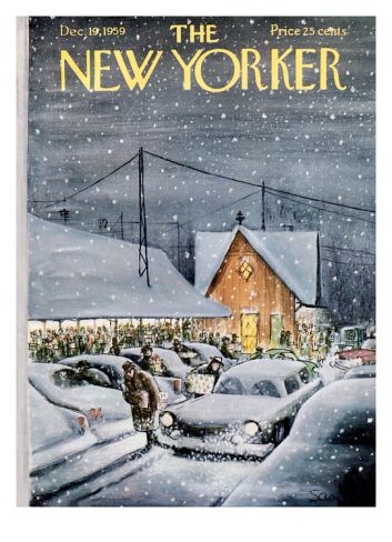 The New Yorker Cover - December 19, 1959 Giclee Print by Charles Saxon at Art.com